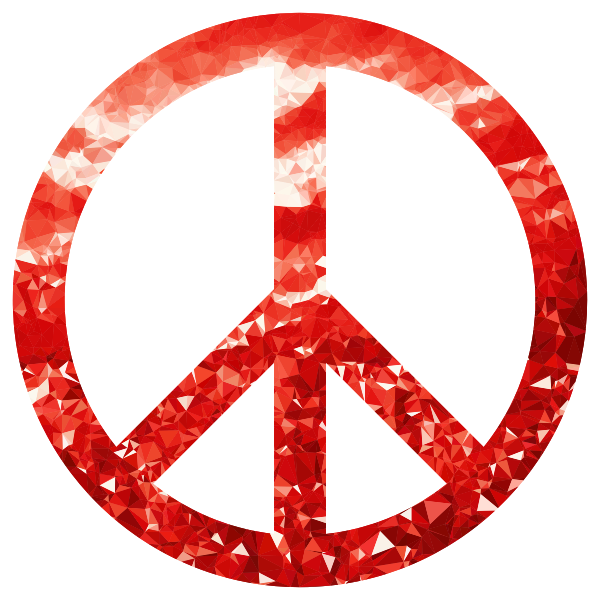 Ruby Peace Sign