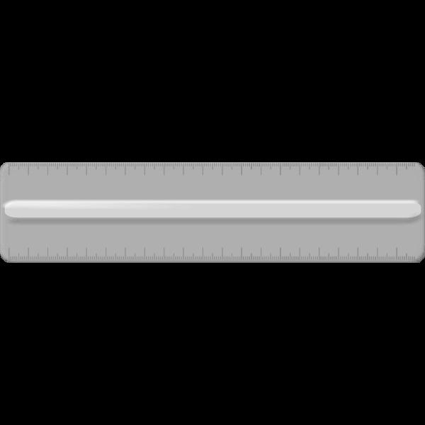 Transparent plastic ruler vector illustration