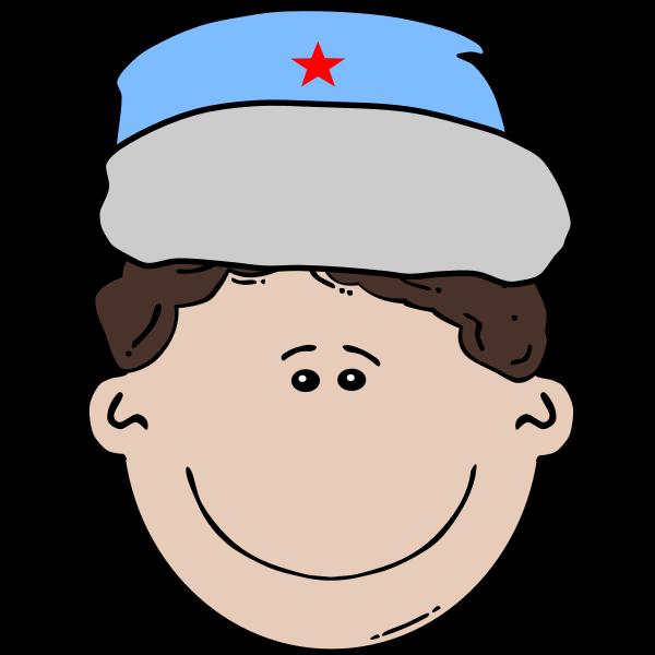 Russian boy vector illustration