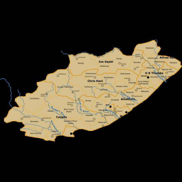SA Eastern Cape Map