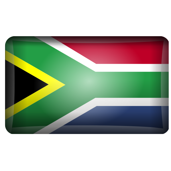 Vector clip art of reflective South African flag