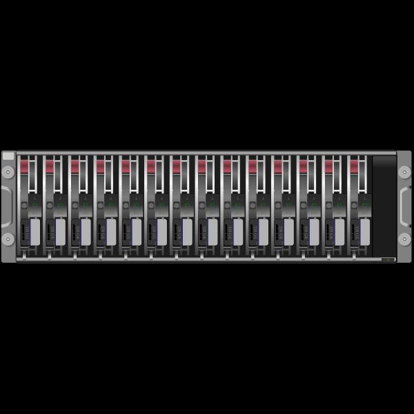 SAN server disk arrays SCSI vector image