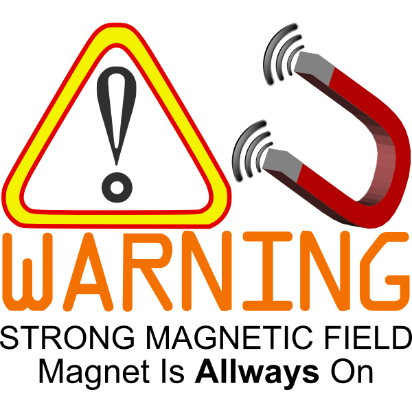 Strong magnet warning sign vector image
