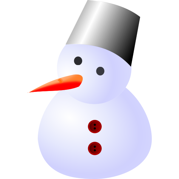 Snowman vector drawing
