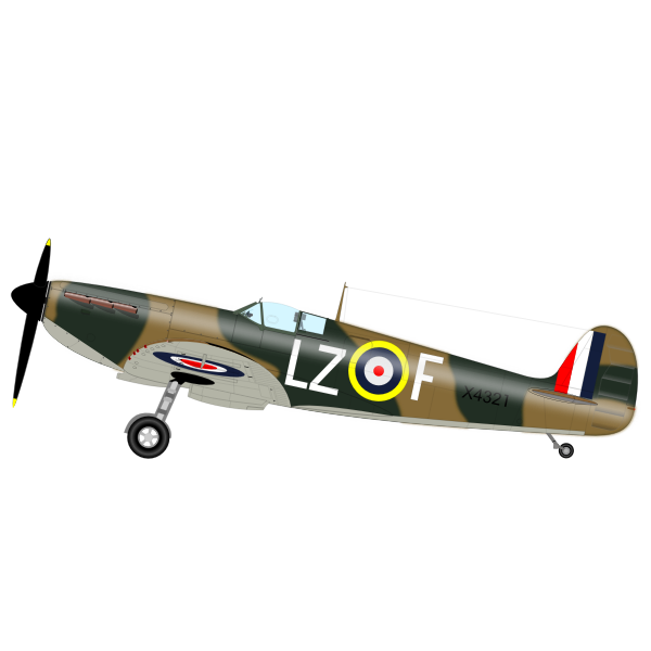 Spititfire MK1 aircraft vector image
