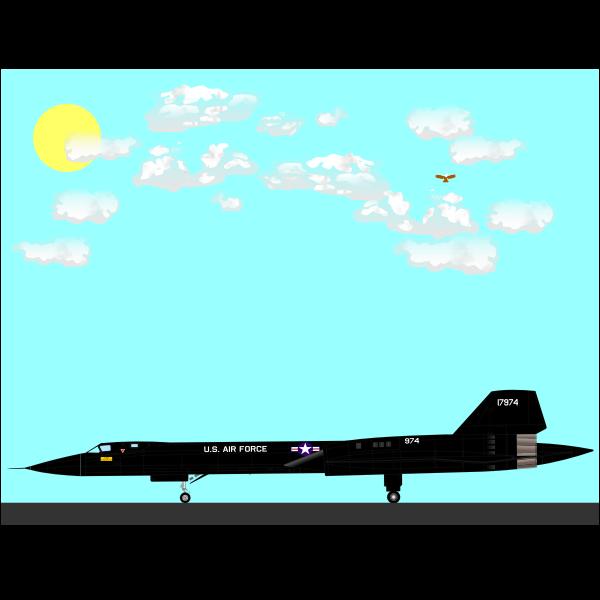 SR-71A plane
