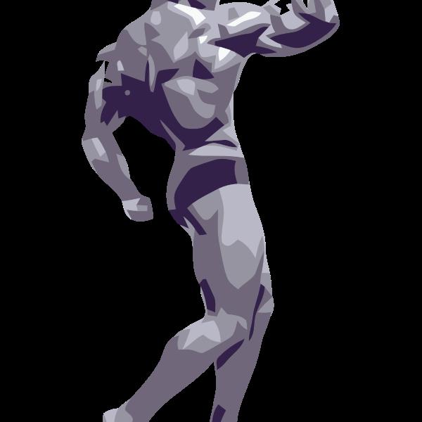 Vector clip art of a bodybuilder
