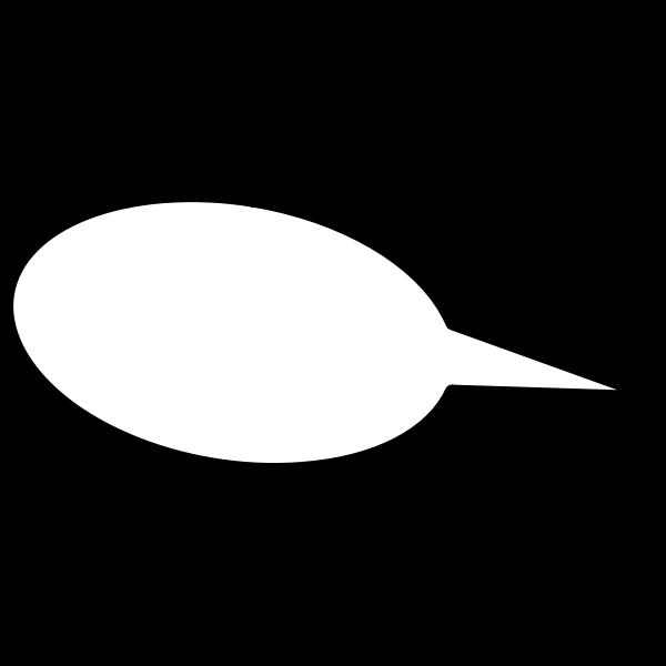 Speech comic bubble vector image