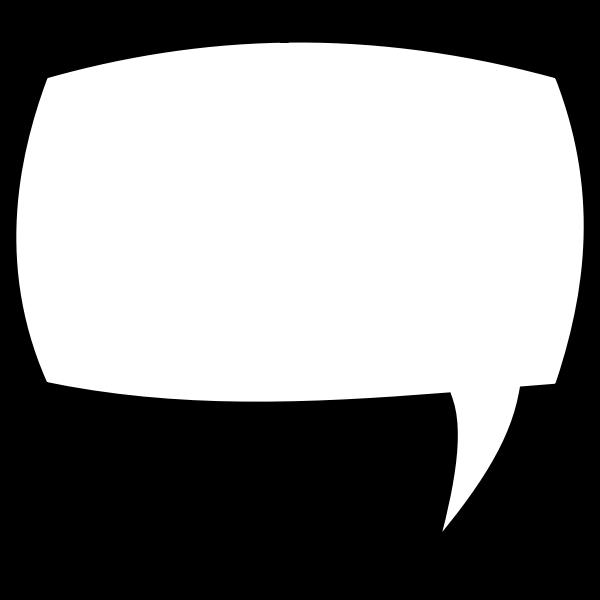 Vector clip art rectangular comic speech bubble