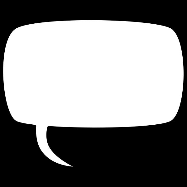Rectangular comic speech bubble vector drawing