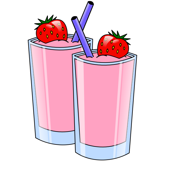 Strawberry smoothie vector