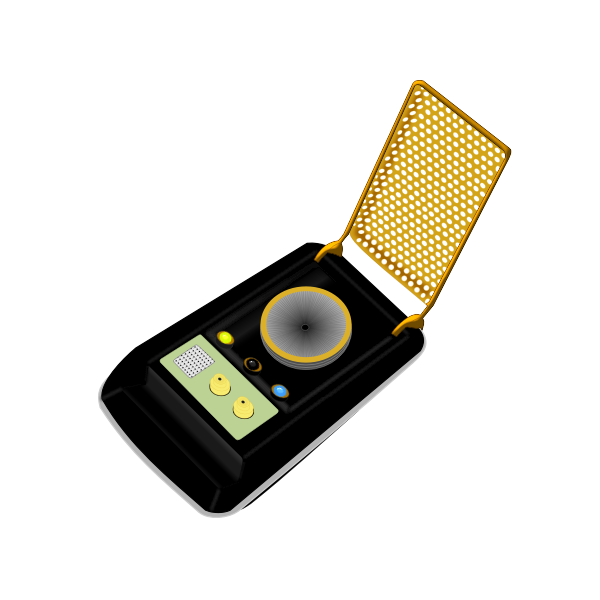 Universal communicator device vector image