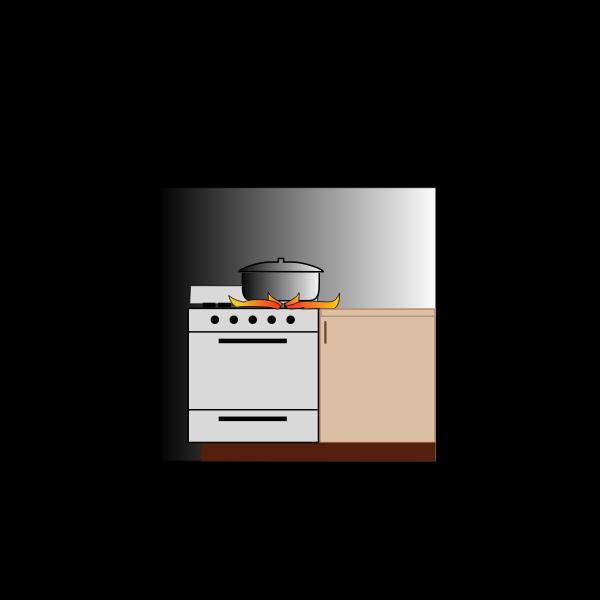 Pot on stove