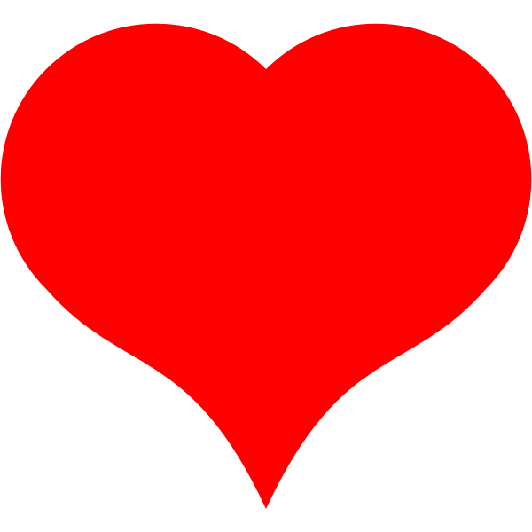 SVG heart bezier expanded