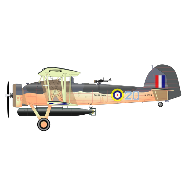 The Fairey Swordfish MK1 vector clip art