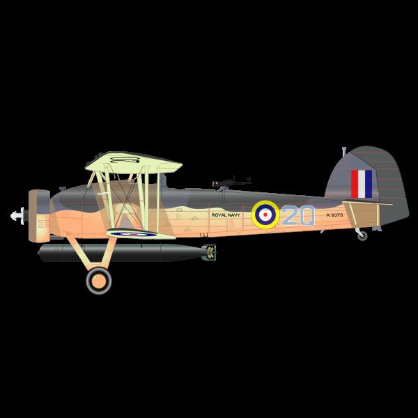 The Fairey Swordfish MK1 vector clip art