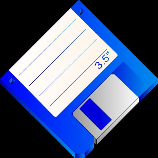 Labelled floppy disk vector clip art