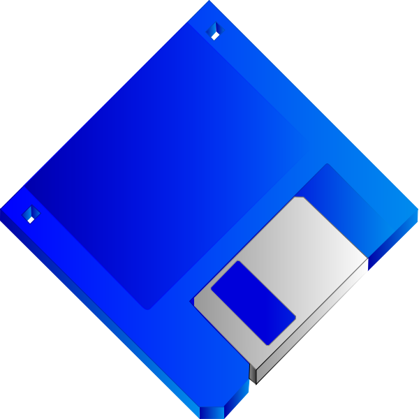 Floppy disk without label vector image