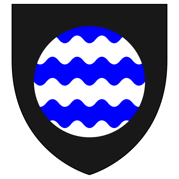 Vector clip art of shield with water waves