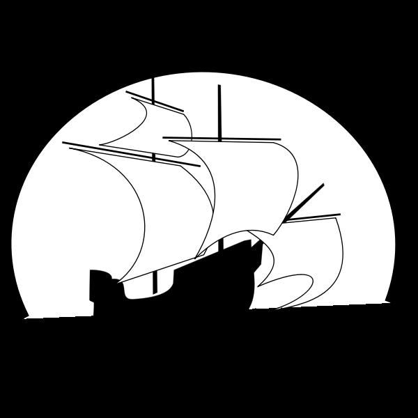 Sailboat outline