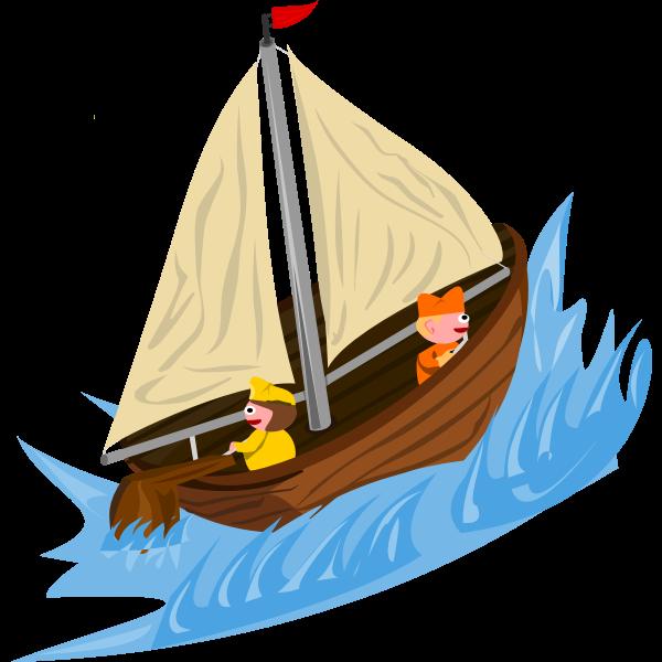 Sailing on wild water