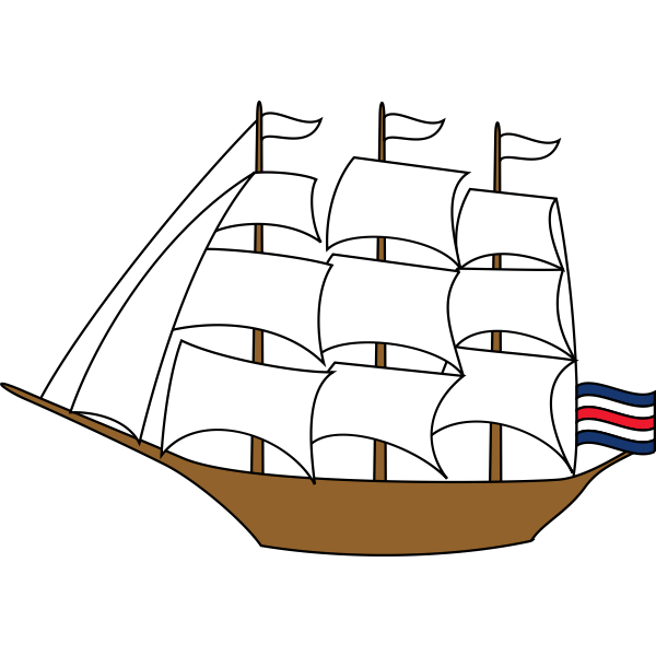 Boat and flag
