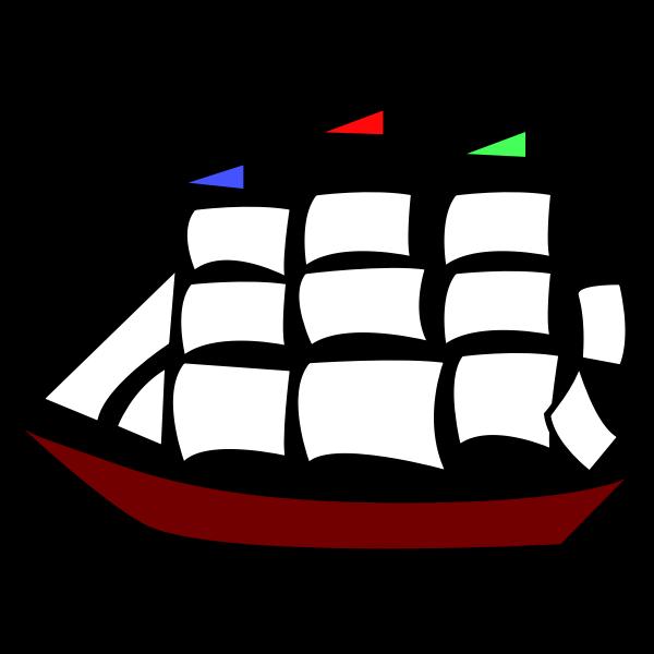 Red boat symbol
