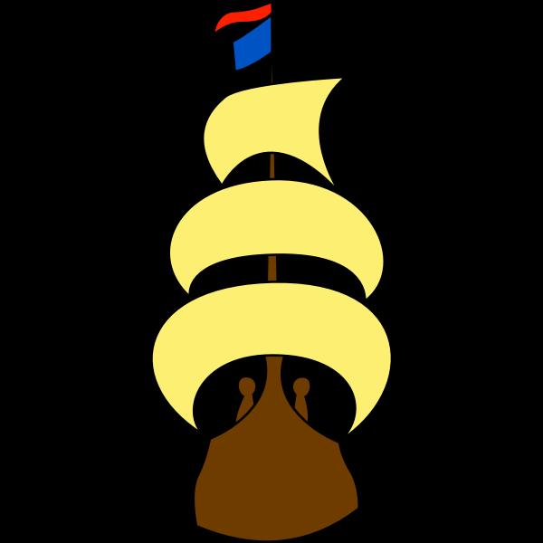 Yellow sailing ship