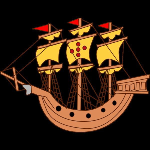 Sailing ship cartoon image