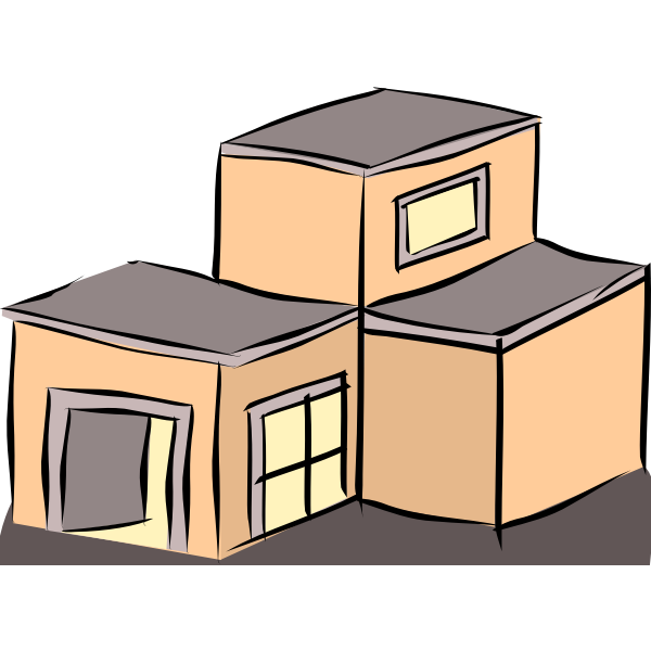 Vector clip art of a house