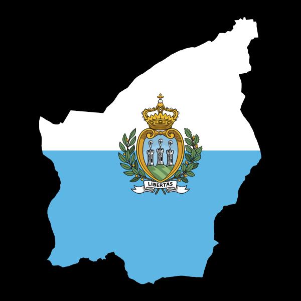 San Marino Map Flag
