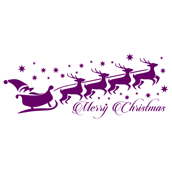 Violet Christmas symbols