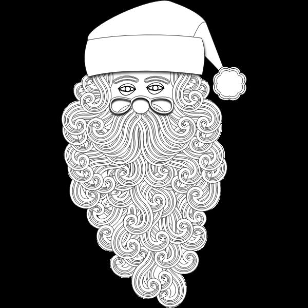 Santa Claus outline vector