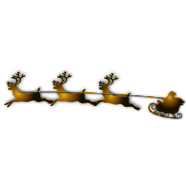 Santa and Reindeer Vector Image