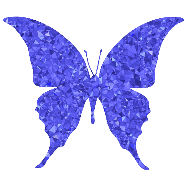 Sapphire Butterfly Silhouette 6