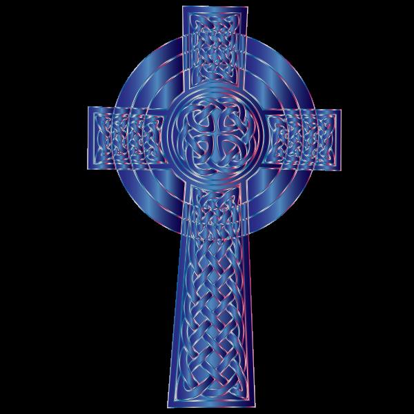 Sapphire Celtic Cross