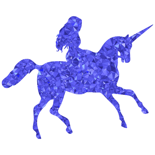 Sapphire Woman Riding Unicorn