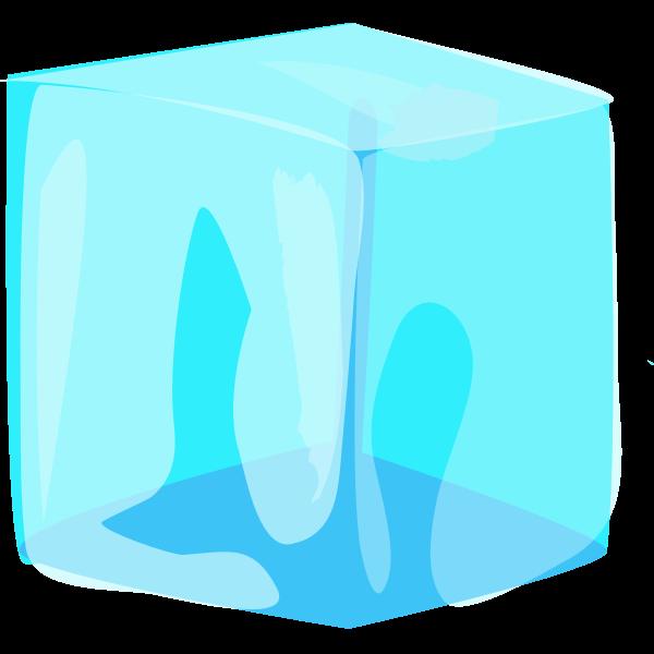 Ice cube vector clip art
