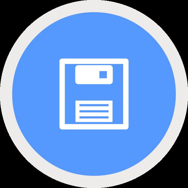 Floppy disc symbol