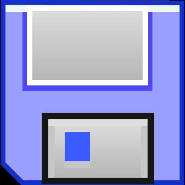 Blue floppy disk