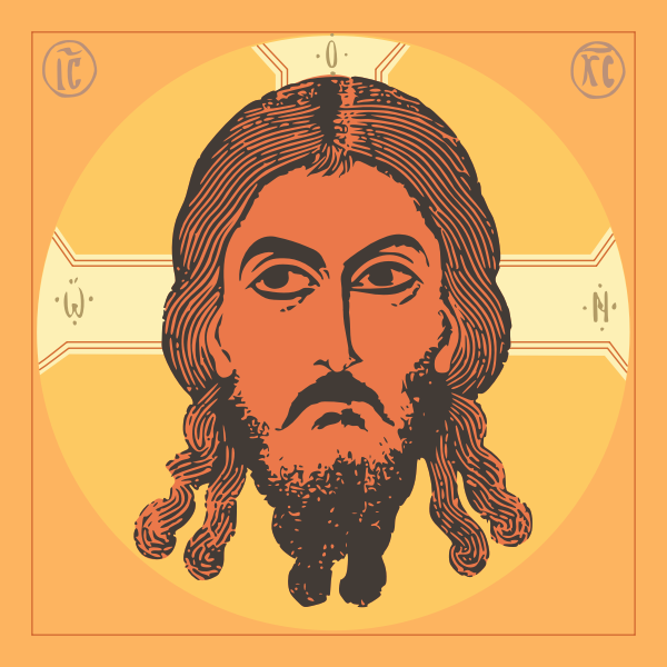 Vector image of savior icon