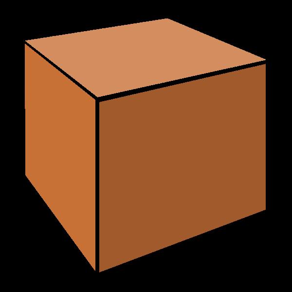 3D orange box vector clip art