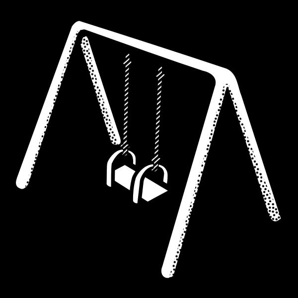 Kid's swing vector clip art
