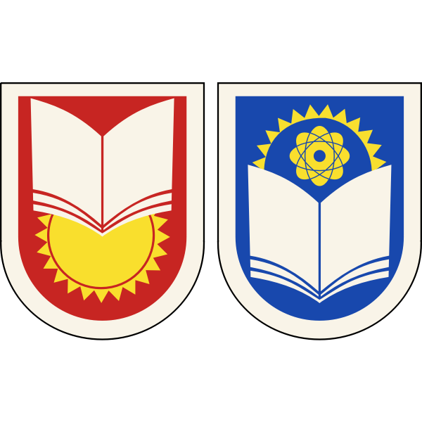Soviet junior and senior school chevrons vector drawing