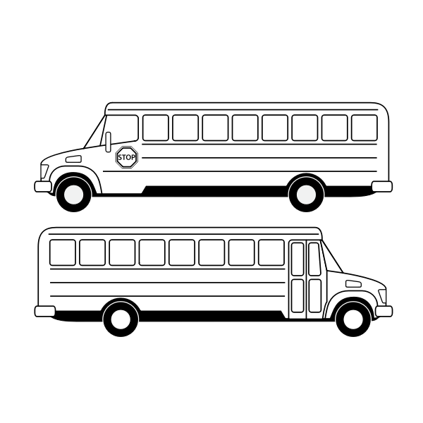 School bus vector drawing