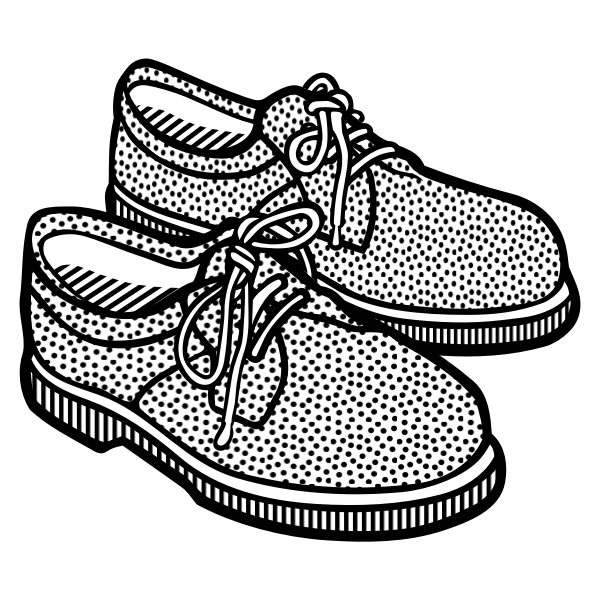 Vector clip art of spotty men's shoes