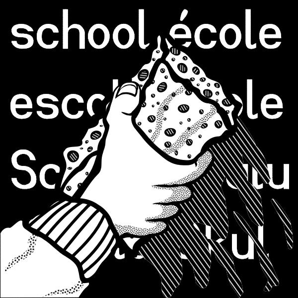 Drawing of blackboard cleaning sponge