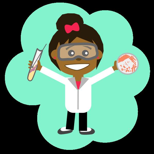 Science girl image