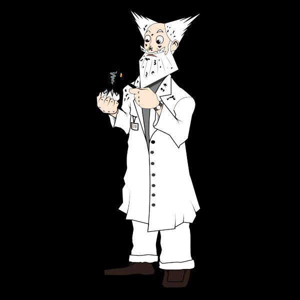 Scientist in explosion