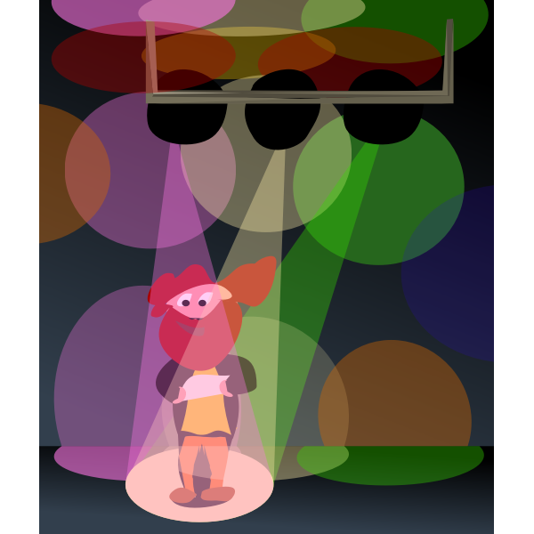 Cartoon man in disco